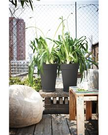 Pot Loft Urban Round High D35 blanc