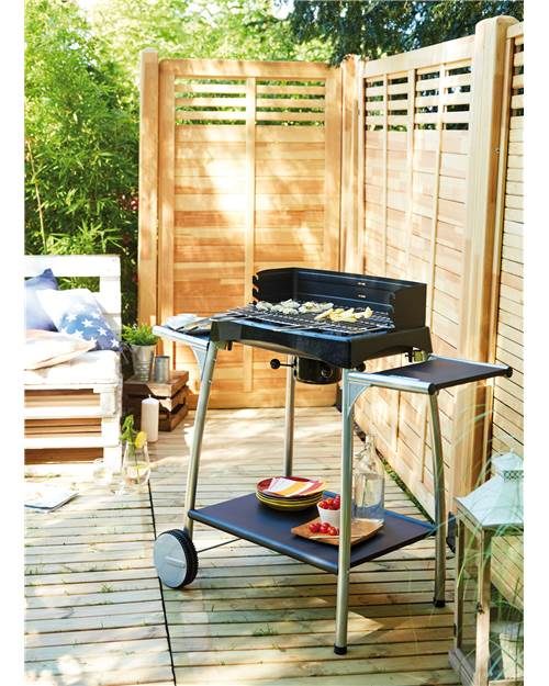 Barbecue charbon Isy Fonte 55 cuve fonte 53 x 32 cm Cook'in garden