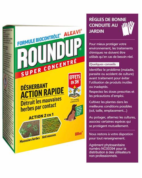 Désherbant Round up concentré 200ml (sans glyphosate)