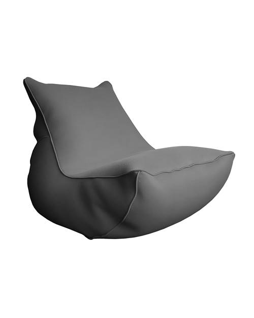 Lounge big bag de jardin anthracite en polyester