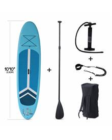 Pack stand up paddle gonflable Julio 9'3'' avec pompe haute pression simple action, pagaie, leash et