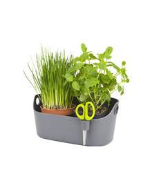 Cache pot Brussels Herbs Station anthracite
