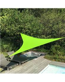 Voile d'ombrage triangulaire extensible EASYWIND 4 x 4 x 5,7m - vert