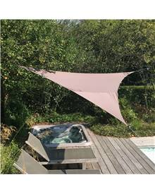 Voile d'ombrage triangulaire extensible EASYWIND 5 x 5 x 5m - Gris - Anti UV UPF 50+