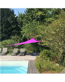 Voile d'ombrage triangulaire extensible EASYWIND 5 x 5 x 5m - violet - Anti UV UPF 50+