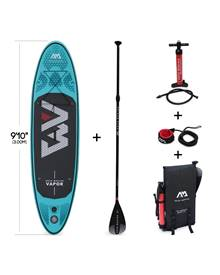 Pack stand up paddle gonflable Vapor 9'10 avec pompe haute pression double action, pagaie, leash et