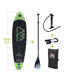 Pack stand up paddle gonflable Breeze 9'9 avec pompe haute pression, pagaie, leash, base de fixation