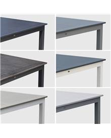 Salon de jardin table extensible - Chicago Anthracite/Gris foncé - Table en aluminium 175/245cm avec