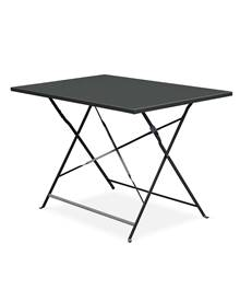 Table de jardin bistrot pliable - Emilia rectangle anthracite- Table rectangle 110x70cm en acier the
