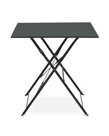 Table jardin bistrot pliable - Emilia carrée anthracite- Table carrée 70x70cm en acier thermolaqué