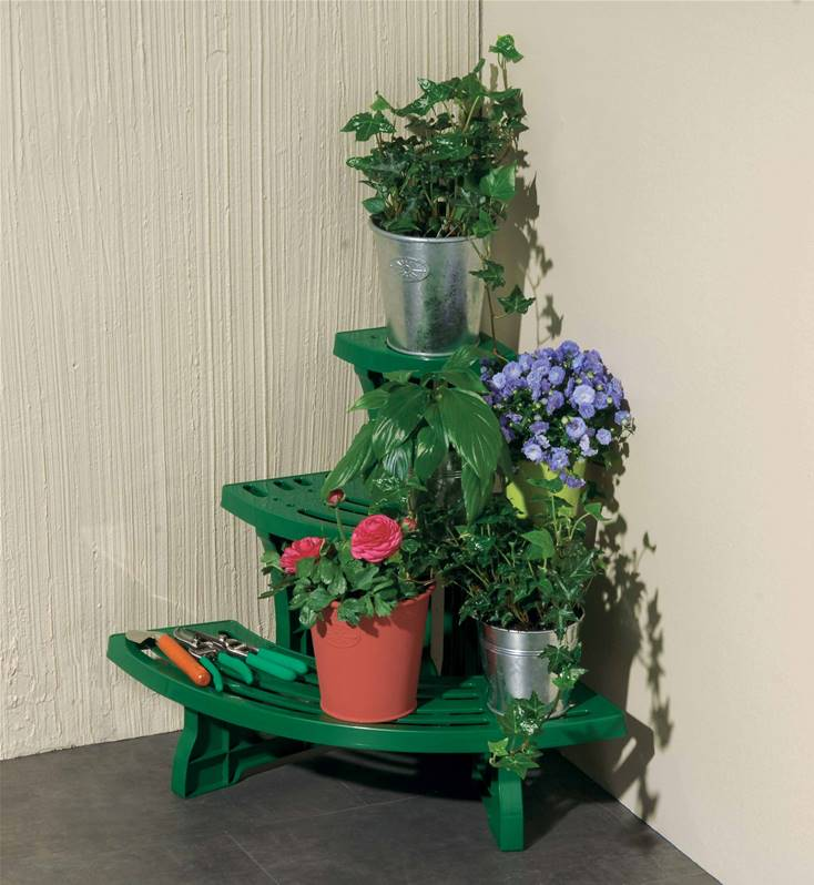 Etag re plante mod le d 39 angle 3 tages willemse for Etagere plantes terrasse