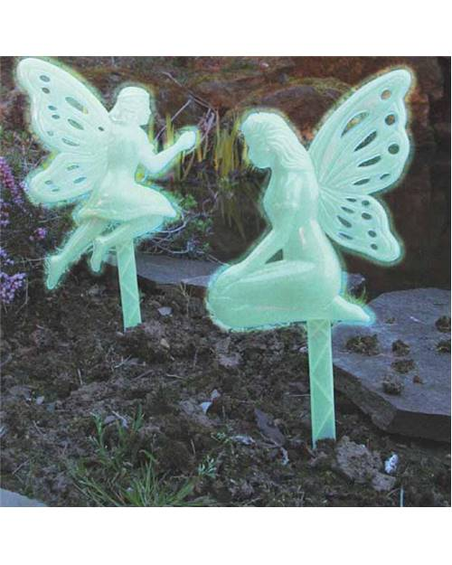 2 ELFES DECO JARDIN PHOSPHORESCENTS