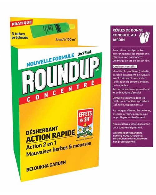 Round up concentré 3 tubes de 75 ml (225 ml au total)