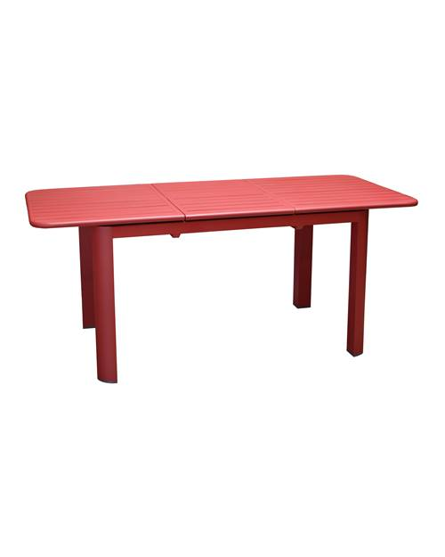 Table de jardin à allonge Eos 130/180x80cm rouge en alu epoxy 6/8 per