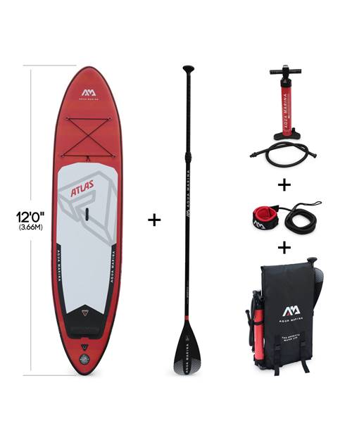 Stand Up Paddle Gonflable – Atlas 12'- 15cm d'épaisseur - Pack stand up paddle gonflable (SUP) avec