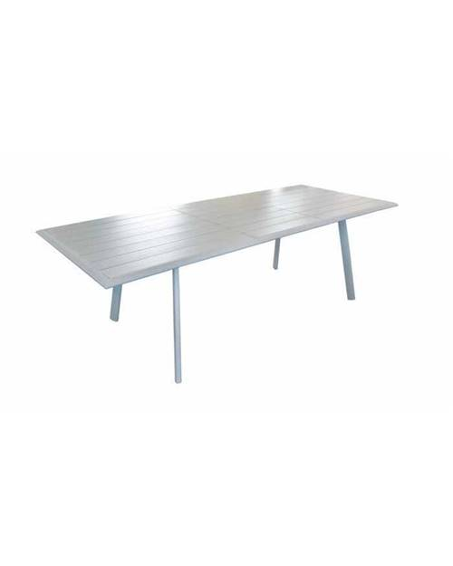 Table LENA 180/240*100cm alu blanc