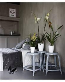 Cache pot Brussels Diamond Orchid D15 blanc