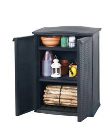 Armoire basse anthracite