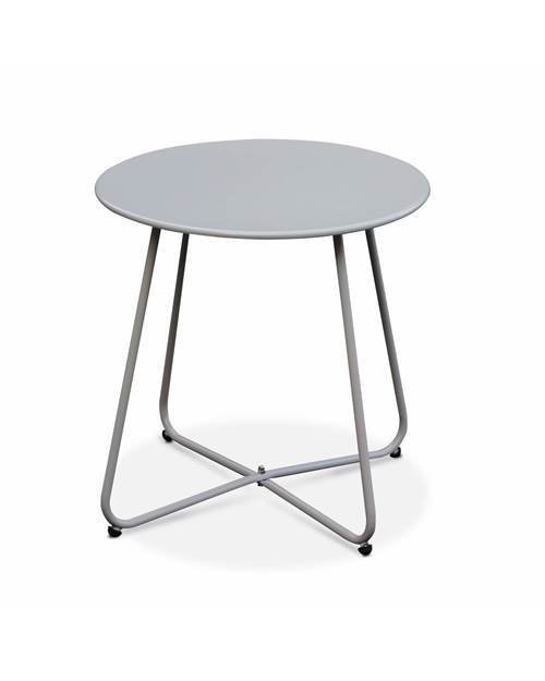 Table basse ronde – Cecilia gris taupe – Table d'appoint ronde Ø45cm,
