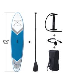 Pack stand up paddle gonflable Rico 10'10 avec pompe haute pression simple action, pagaie, leash et