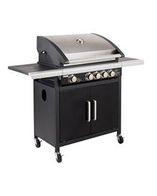 Barbecue gaz 4 brûleurs Fidgi + Side plaque fonte 62 x 40 cm Cook'in