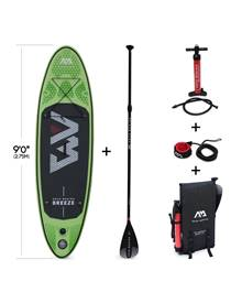 Pack stand up paddle gonflable Breeze 9' avec pompe haute pression, pagaie, leash et sac de rangemen
