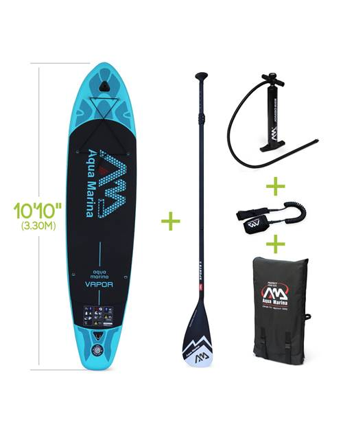 Pack stand up paddle gonflable Vapor 10'10 avec pompe haute pression, pagaie, leash, base de fixatio