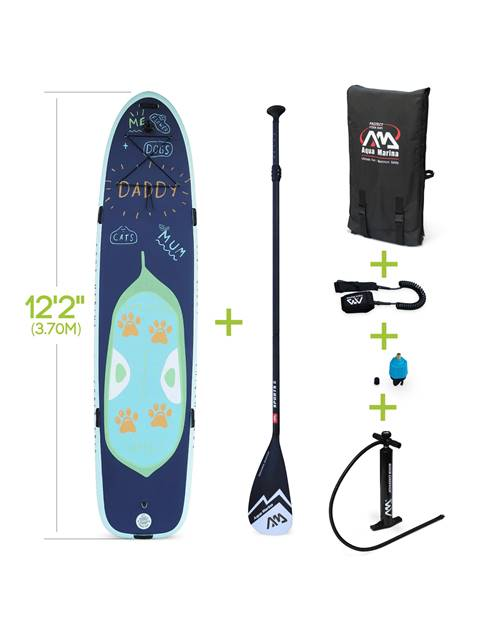 Stand Up Paddle Gonflable - Super Trip 12'2 - Familial, 15cm d'épaisseur - Pack stand up paddle gonf