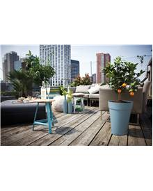 Pot Loft Urban Round High D42 bleu