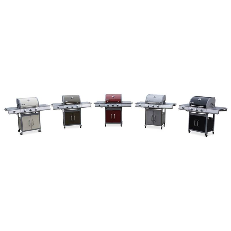 Barbecue gaz inox 14kW – Richelieu ivoire – Barbecue 3
