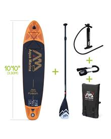Stand Up Paddle Gonflable - Fusion 10'10 - 15cm d'épaisseur - pompe haute pression, pagaie, leash, b