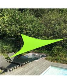 Voile d'ombrage triangulaire extensible EASYWIND 5 x 5 x 5m - vert - Anti UV UPF 50+