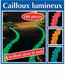 100 Cailloux lumineux verts