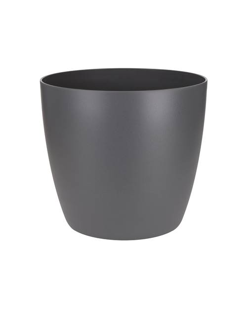 Cache pot Brussels Round D14 cm anthracite